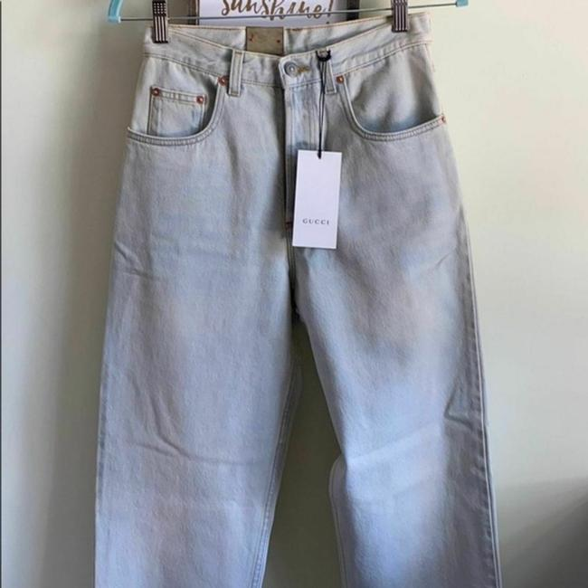 Gucci Blue Distressed 80s Stone Washed Denim Pants Amour Straight Leg Jeans Size 26 (2, XS) Gucci Blue Distressed 80s Stone Washed Denim Pants Amour Straight Leg Jeans Size 26 (2, XS) Image 7