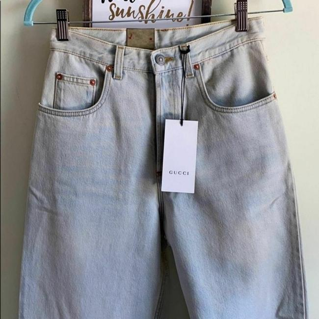 Gucci Blue Distressed 80s Stone Washed Denim Pants Amour Straight Leg Jeans Size 26 (2, XS) Gucci Blue Distressed 80s Stone Washed Denim Pants Amour Straight Leg Jeans Size 26 (2, XS) Image 8