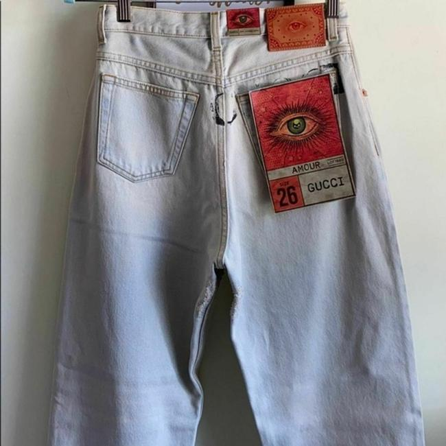 Gucci Blue Distressed 80s Stone Washed Denim Pants Amour Straight Leg Jeans Size 26 (2, XS) Gucci Blue Distressed 80s Stone Washed Denim Pants Amour Straight Leg Jeans Size 26 (2, XS) Image 9