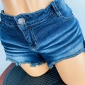 Hippie Laundry Blue Lace Up Pocket Accented Jean Shorts Size 8 (M, 29, 30) Hippie Laundry Blue Lace Up Pocket Accented Jean Shorts Size 8 (M, 29, 30) Image 2