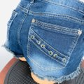 Hippie Laundry Blue Lace Up Pocket Accented Jean Shorts Size 8 (M, 29, 30) Hippie Laundry Blue Lace Up Pocket Accented Jean Shorts Size 8 (M, 29, 30) Image 4