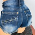 Hippie Laundry Blue Lace Up Pocket Accented Jean Shorts Size 8 (M, 29, 30) Hippie Laundry Blue Lace Up Pocket Accented Jean Shorts Size 8 (M, 29, 30) Image 5