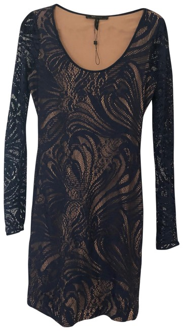 Item - Blue/Nude Mid-length Night Out Dress Size 8 (M)
