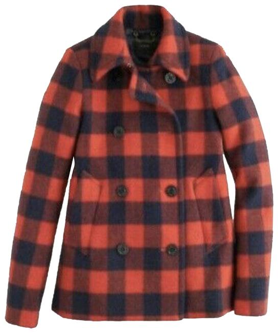 Item - Red Buffalo Check Wool & Blue #07089 Coat Size 2 (XS)