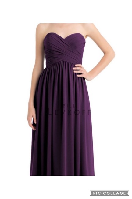 Item - Eggplant Chiffon Formal Bridesmaid/Mob Dress Size 6 (S)