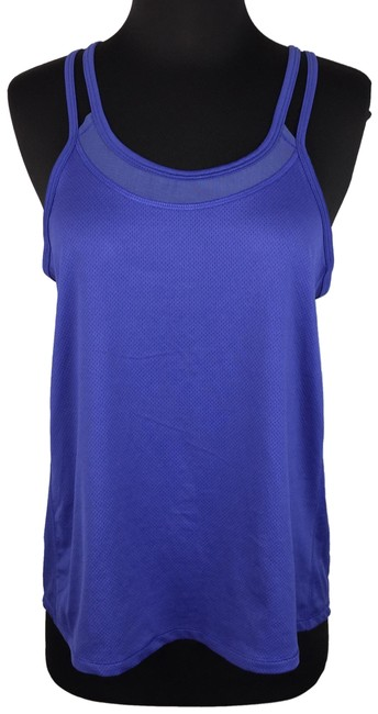 Item - Blue S Workout Sleeveless Mesh Accents Activewear Top Size 4 (S)