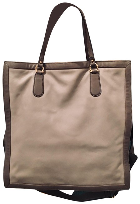 Item - With Free Mk Scarf & Vince Frangance Brown/ Tan. Leather Tote