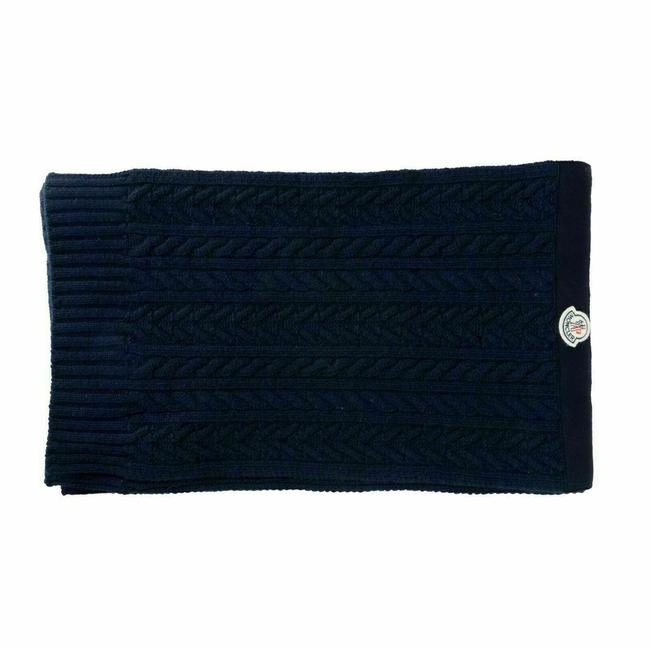 Item - Navy Wool Cashmere Knitted Unisex Scarf/Wrap