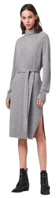 Item - Gray Roza Turtleneck Sweater Mid-length Short Casual Dress Size 4 (S)