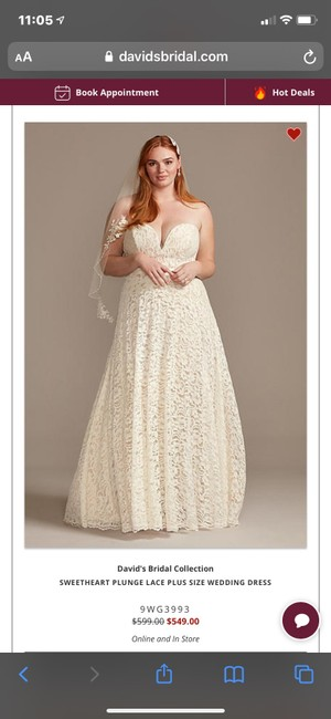 Item - Ivory Lace Traditional Wedding Dress Size 14 (L)