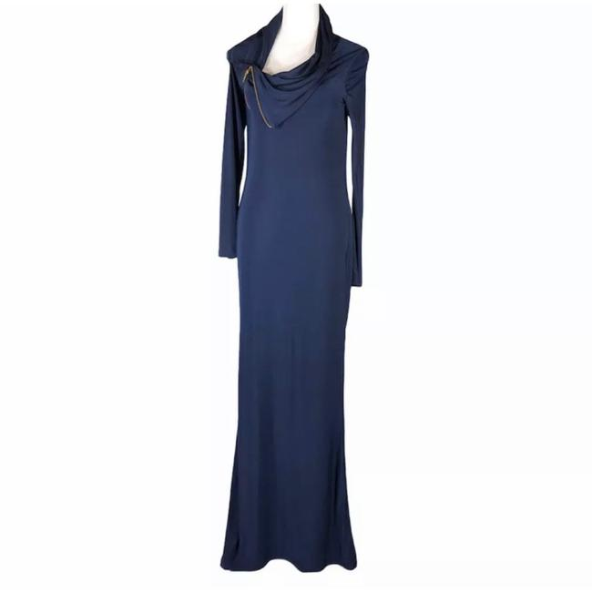 Item - Navy Blue Evening Gown Long Formal Dress Size 6 (S)