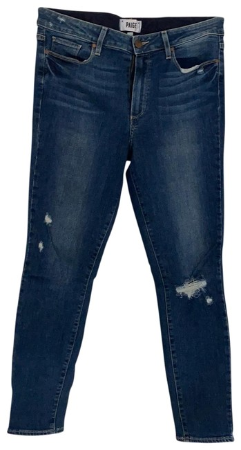 Item - Medium Rinse Distressed Hoxton Ankle Skinny Jeans Size 8 (M, 29, 30)