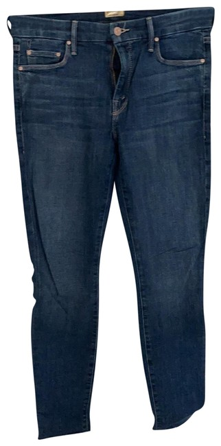 Item - Girl Crush (Medium Rinse with Pink Stitching) Wash The Looker Fray Skinny Jeans Size 8 (M, 29, 30)