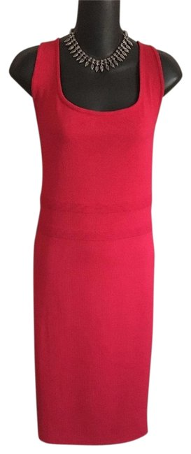 Item - Pinkish Red Collection Knit Mid-length Work/Office Dress Size 10 (M)