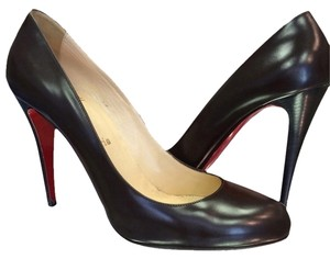 Christian Louboutin 10 Decolette Dark Brown Pumps