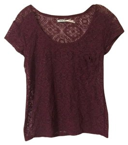 Kimchi Blue Urban Outfitters Uo Cropped Cropped Tee Cropped Crop Lace Lace Lace Tees Lace Trim T Shirt