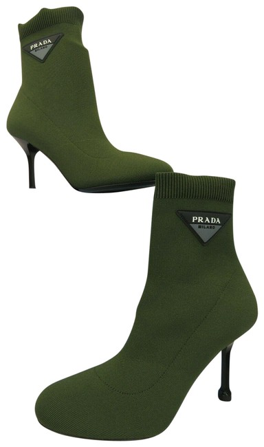 Item - Dark Green 1t978i Knitted Sock Lettering Logo Ankle Italy Boots/Booties Size EU 37 (Approx. US 7) Regular (M, B)