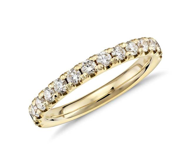 Item - 18k Yellow Gold 0.50ct Ladies Round Cut Band In Ring