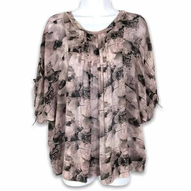 Item - Gray Pintuck Poets Blouse Size 12 (L)