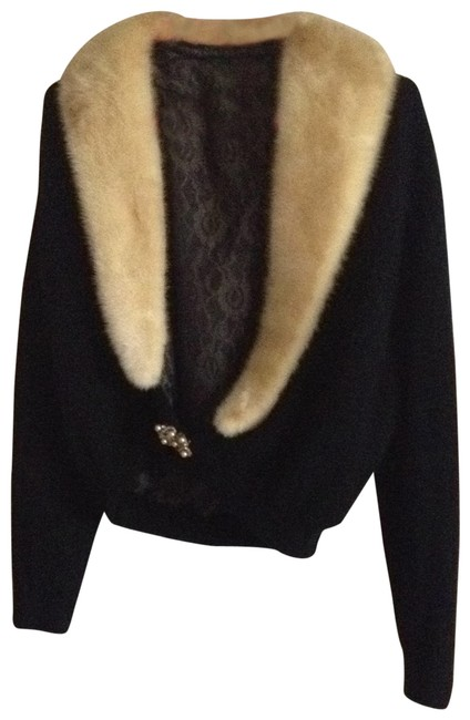 Preload https://img-static.tradesy.com/item/28294/black-vintage-cashmere-wmink-collar-purchased-in-1960-blazer-size-4-s-0-0-650-650.jpg