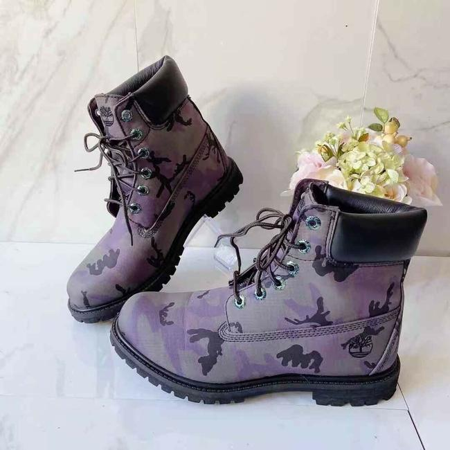 Timberland Purple Premium Women's Combat Lace Up Boots/Booties Size US 9 Regular (M, B) Timberland Purple Premium Women's Combat Lace Up Boots/Booties Size US 9 Regular (M, B) Image 1