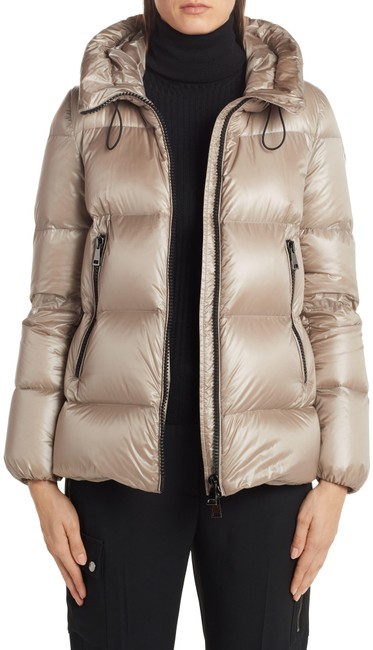 Item - Beige Neutrals Serite Hooded Quilted Down Puffer Jacket Coat Size OS (one size)
