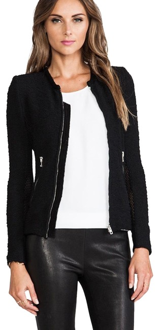 Item - Black Hurley with Leather Trim Jacket Size 6 (S)