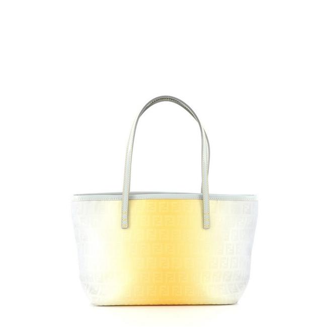 Item - Ombre Roll Zucchino Small Blue Yellow Canvas Tote