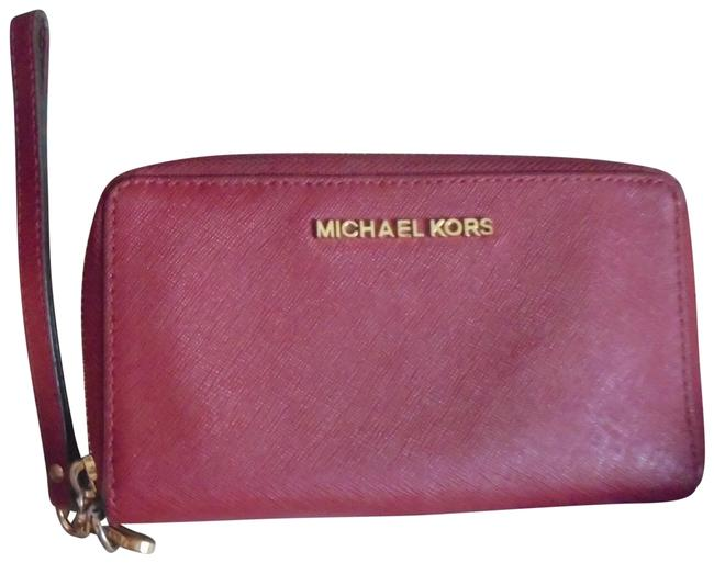 Item - Red Safiano Leather Wallet/Wristlet Wallet