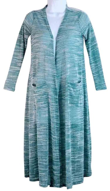 Item - Green and White Cardigan Size 2 (XS)
