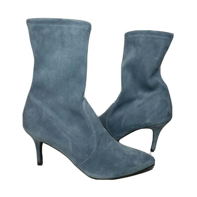 Item - Denim Blue Weitzman cling High Heel Stretch Suede Shaft New Without Boots/Booties Size US 9.5 Regular (M, B)