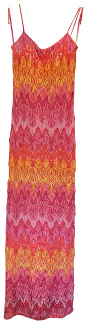 Item - Hotty Pink / Muticolor Avalon Long Casual Maxi Dress Size 0 (XS)