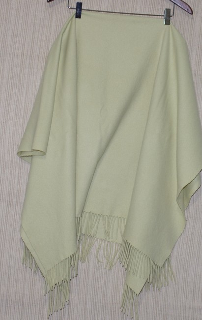 "Item - Mint Cashmere Green Shawl Scarf Wrap Size 54"" X 44"" Other"