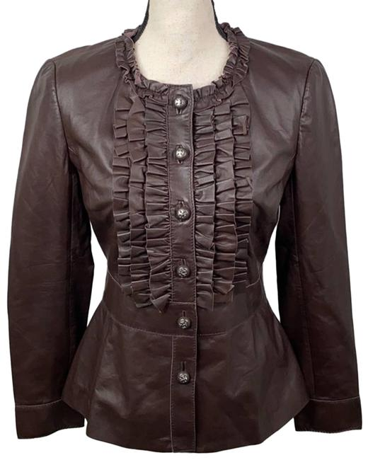 Item - Brown Ruffle - Jacket Size 6 (S)