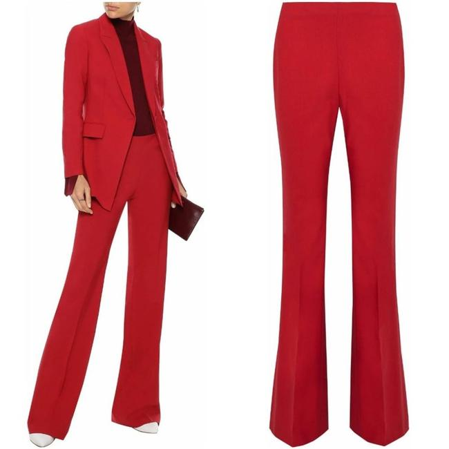Item - Red Demitria Stretch-wool Bootcut Pants Size 8 (M, 29, 30)