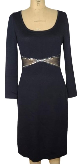 St. John Evening Black Sequin Embellished Slinky Mid-length Formal Dress Size 8 (M) St. John Evening Black Sequin Embellished Slinky Mid-length Formal Dress Size 8 (M) Image 1