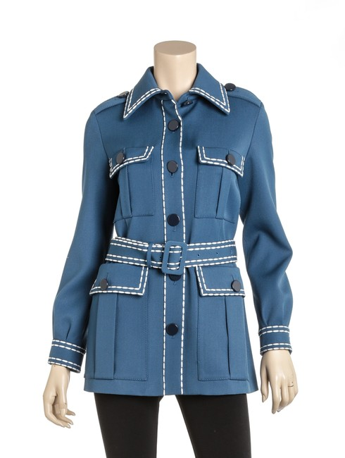 Item - Blue Rc 502078 Wool Safari Gabardine Jacket Size 0 (XS)