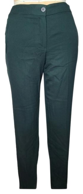 Item - Dark Green Wool Blend Tailored Cropped Pants Size 2 (XS, 26)