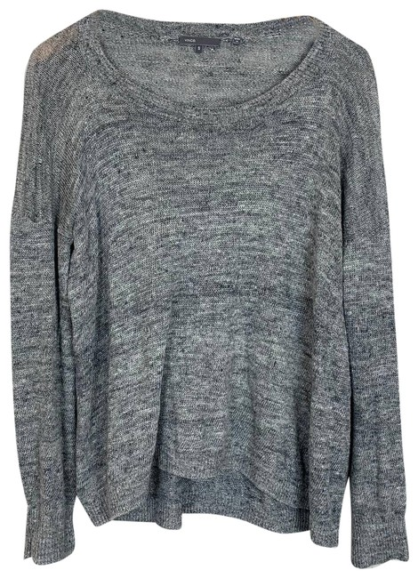 Item - Gray Slouchy Knit Linen High Low Dolman Sleeve Small Maternity Top Size 4 (S)