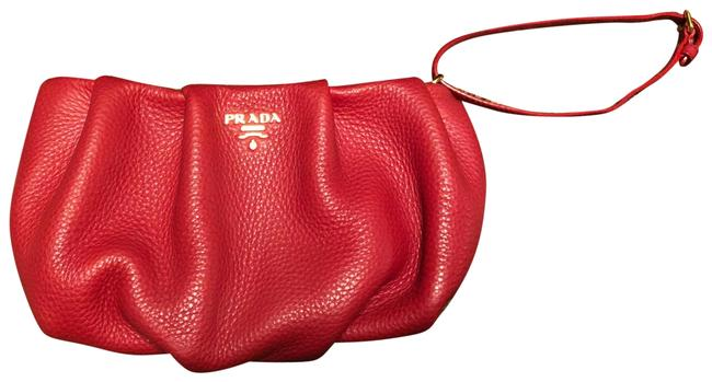 Item - Stunning Collectible Red Calf Grained Leather Wristlet