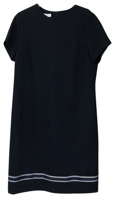 Item - Black But Almost Looks Like Dark Navy Stretch Logo Night Out Dress Size 14 (L)