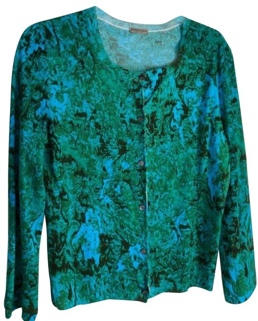 Item - Green and Blue Pre-aw15 Cardigan Size 6 (S)