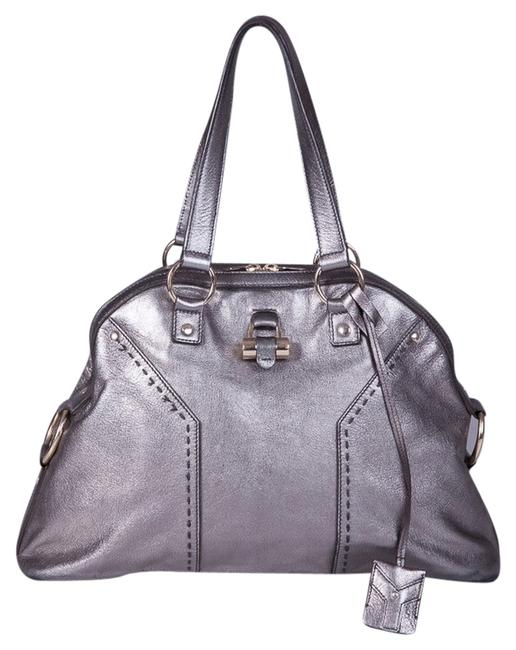 Item - Muse Ysl Large Silver Leather Hobo Bag