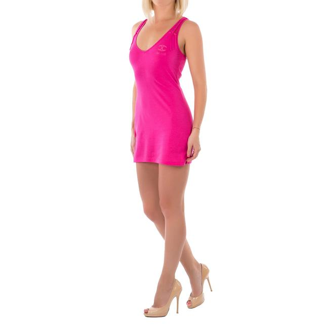 Item - Pink Bodycon Racer-back Tank Cotton Tunic Size 2 (XS)