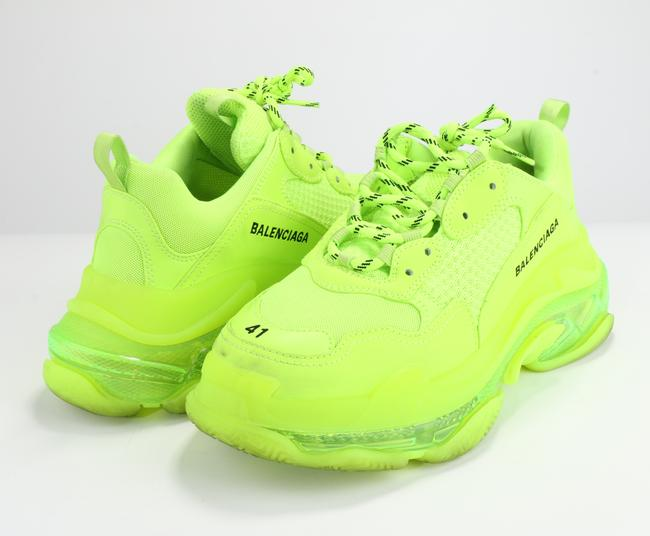 Item - Fluorescent Yellow Triple S Clear Sole Sneakers Shoes