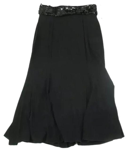 Item - Black Silk Tuxedo Skirt Size OS (one size)