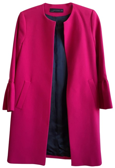 Item - Fuchsia Pink With Frilled Cuffs Coat Size 0 (XS)