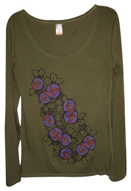 Preload https://item5.tradesy.com/images/lucy-olive-green-t-shirt-2829784-0-0.jpg?width=400&height=650