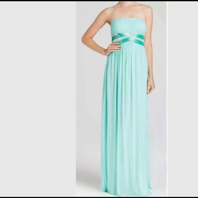 Item - Aqua Mint Chiffon Lot-of-2 Evening Gowns Traditional Bridesmaid/Mob Dress Size 4 (S)
