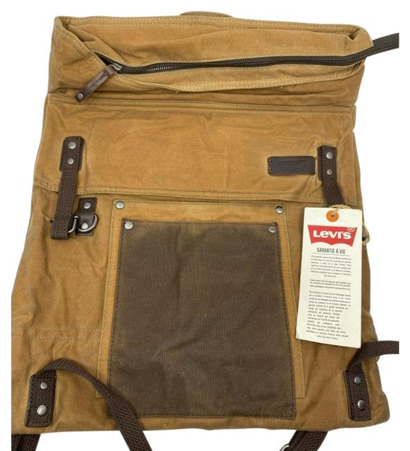Item - In Inter Woven Tan Fabric Backpack